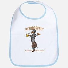 Dapple Oktoberfest Weiner Dog Bib