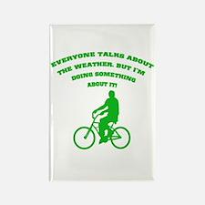 Global Warming Ride a Bike Rectangle Magnet
