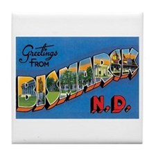 Bismarck North Dakota ND Tile Coaster