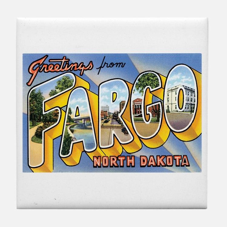 Fargo North Dakota ND Tile Coaster
