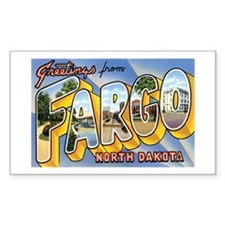 Fargo North Dakota ND Rectangle Decal