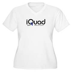 iQuad Team Women's Plus Size V-Neck T-Shirt