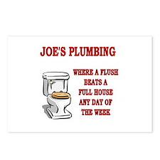 Joe's Plumbing Postcards (Package of 8)