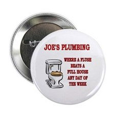 "Joe's Plumbing 2.25"" Button (10 pack)"