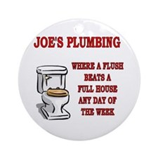Joe's Plumbing Ornament (Round)