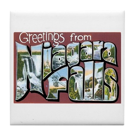 Niagara Falls New York NY Tile Coaster