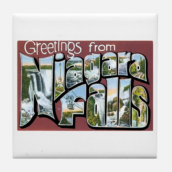 Niagara Falls New York NY Tile Coaster