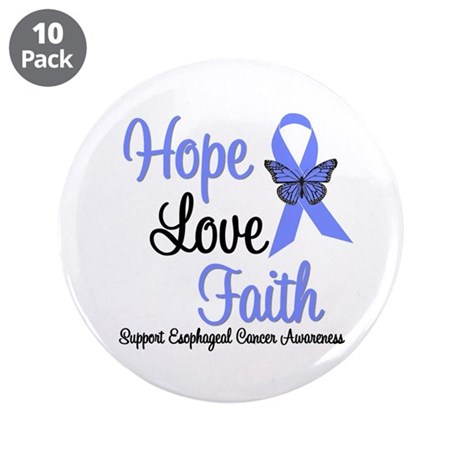 "Esophageal Cancer 3.5"" Button (10 pack)"
