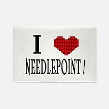 I love needlepoint! Rectangle Magnet