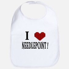 I love needlepoint! Bib