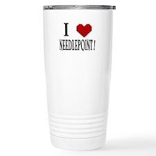 I love needlepoint! Travel Mug