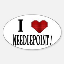 I love needlepoint! Oval Decal