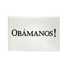 Obamanos_black letters Rectangle Magnet