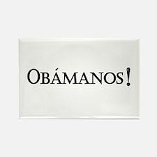 Obamanos_black letters Rectangle Magnet