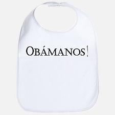 Obamanos_black letters Bib
