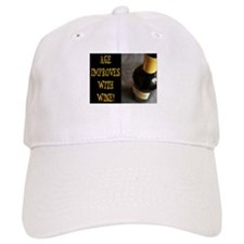 AGE IMPROVES WITH WINE Baseball Cap