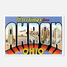 Akron Ohio OH Postcards (Package of 8)