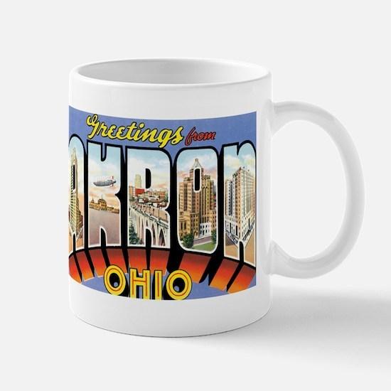Akron Ohio OH Mug