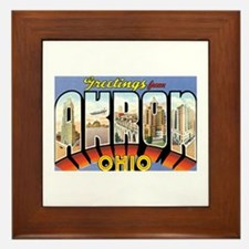 Akron Ohio OH Framed Tile