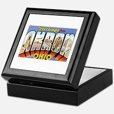 Akron Ohio OH Keepsake Box