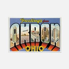 Akron Ohio OH Rectangle Magnet