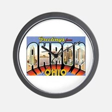 Akron Ohio OH Wall Clock