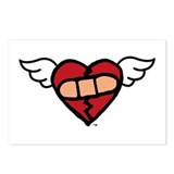 Winged heart chd Postcards
