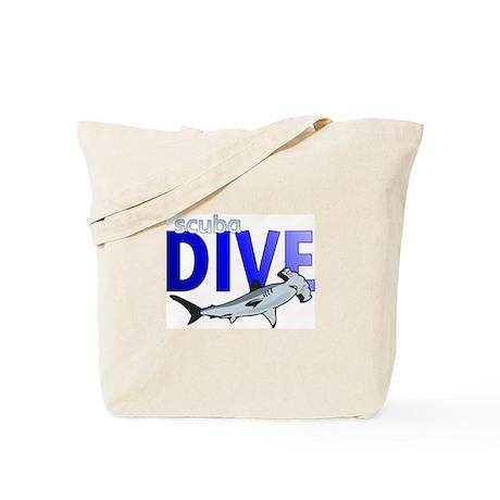 Hammerhead Shark/Scuba Dive Tote Bag
