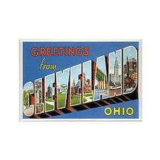 Cleveland Ohio OH Rectangle Magnet