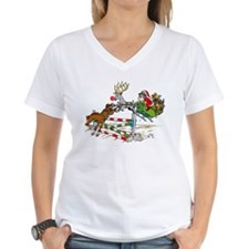Santa Jumping Horse Jump Shirt