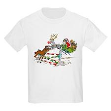 Santa Jumping Horse Jump T-Shirt