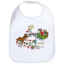 Santa Jumping Horse Jump Bib