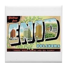 Enid Oklahoma OK Tile Coaster