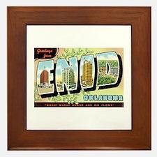 Enid Oklahoma OK Framed Tile