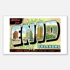 Enid Oklahoma OK Rectangle Decal