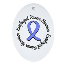 Esophageal Cancer Oval Ornament