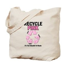 Recycle Pink Recycle Hope 1 Tote Bag