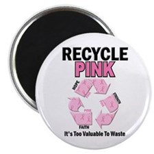 "Recycle Pink Recycle Hope 1 2.25"" Magnet (100 pack"