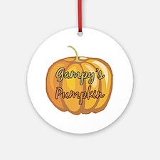 Gampy's Pumpkin Ornament (Round)