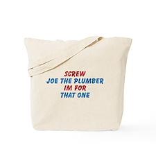 Vintage Retro Style Screw Joe The Plumber Tote Bag