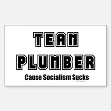 Team Plumber Socialism Sucks Rectangle Decal
