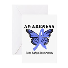 Esophageal Cancer Greeting Cards (Pk of 10)