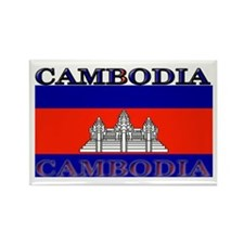 Cambodia Cambodian Flag Rectangle Magnet
