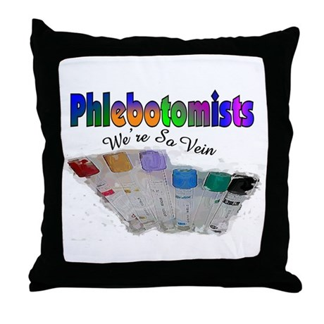 More Phlebotomist Throw Pillow