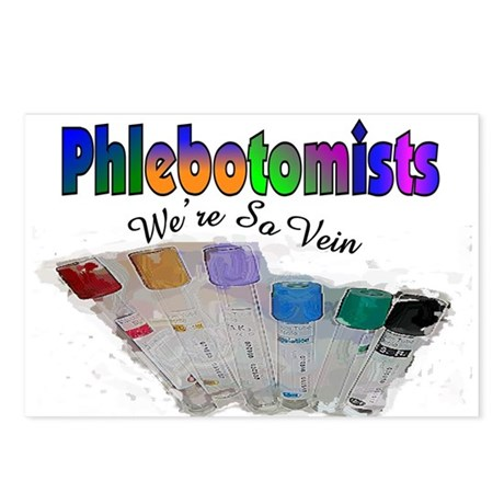 More Phlebotomist Postcards (Package of 8)