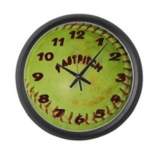 Fastpitch Softball Large Wall Clock