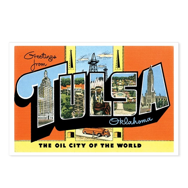 Tulsa Oklahoma OK Postcards Package Of 8 By Caferetro
