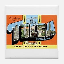 Tulsa Oklahoma OK Tile Coaster