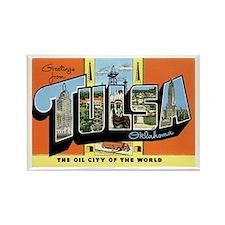 Tulsa Oklahoma OK Rectangle Magnet