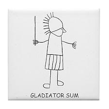 Gladiator Sum Tile Coaster